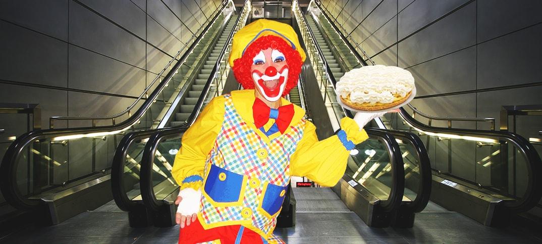 Clown Escalator Prank