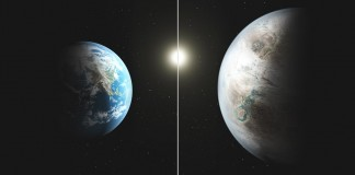 earth with kepler-452b