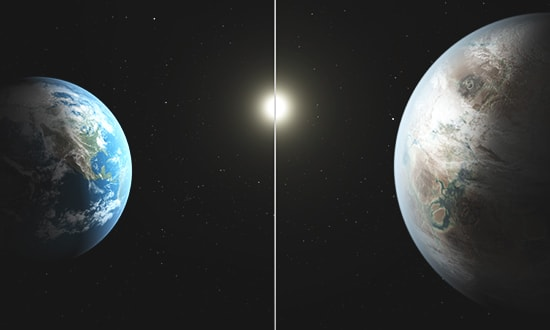 Earth with Kepler-452b