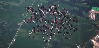 world record sky divers