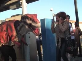 dinosaur prank