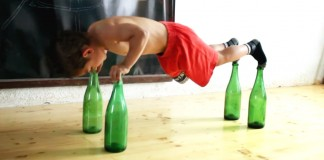 5 year old bottle pushup