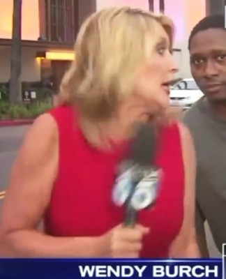 freaked out reporter